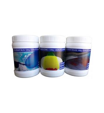 Pack de trois 3 pots de colorant (100g)