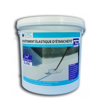 Revêtement élastique d'étanchéité BLANC 5 kg