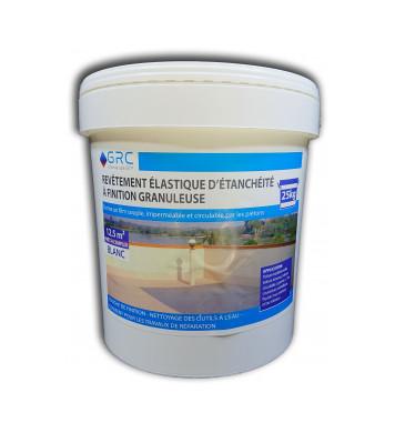 Revêtement élastique d'étanchéité granuleux BLANC 25 kg